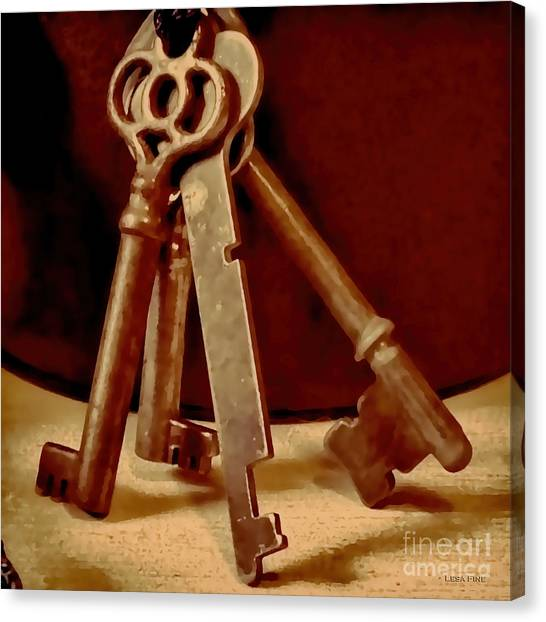Vintage Skeleton Keys I Canvas Print