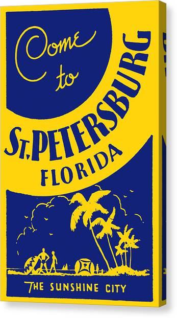 Vintage St. Petersburg Florida Poster Canvas Print
