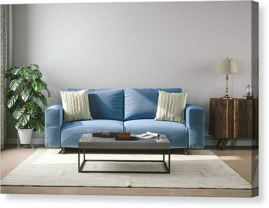 Vintage Style Living Room Canvas Print by Imaginima