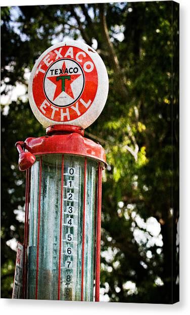 Vintage Texaco Gas Pump Canvas Print