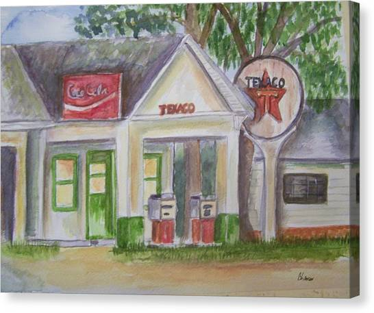 Vintage Texaco Gas Station Canvas Print