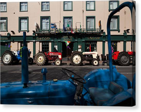 Waterford Canvas Print - Vintage Tractors Lined by Panoramic Images