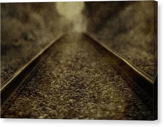 Train Conductor Canvas Print - Vintage Train Tracks by Dan Sproul