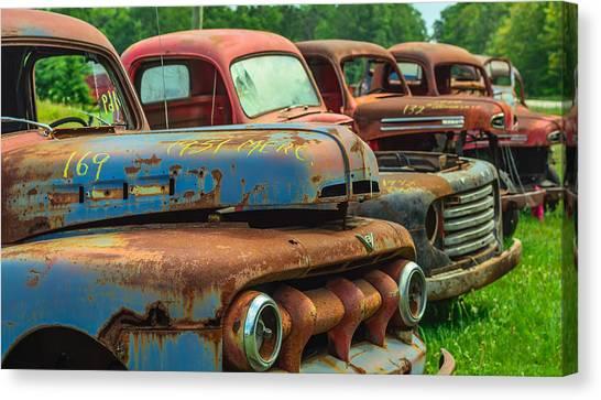 Vintage Trucks 2 Canvas Print