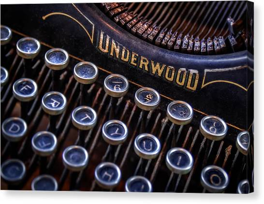 Electronic Instruments Canvas Print - Vintage Typewriter 2 by Scott Norris