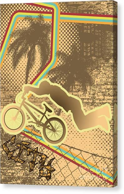 Speed Canvas Print - Vintage Urban Grunge Background Design by Shockydesign