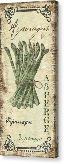 Asparagus Canvas Print - Vintage Vegetables 1 by Debbie DeWitt