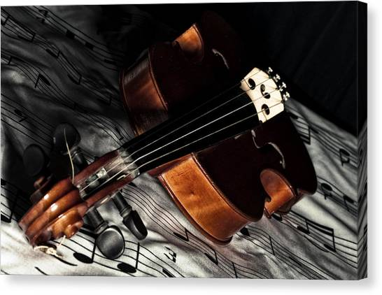 Vintage Violin Canvas Print