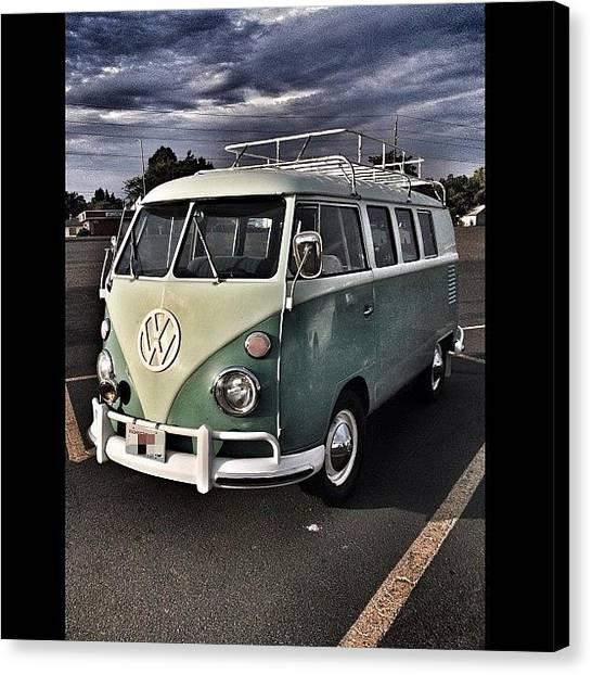 Volkswagen Canvas Print - Vintage Volkswagen Bus 1 by Couvegal Brennan