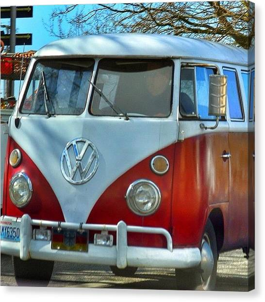 Vw Bus Canvas Print - Vintage Vw Bus. #vw #bus #bellingham by Kelly Hasenoehrl