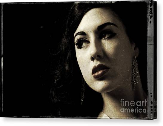 Vintage Woman  Canvas Print by Lesley Rigg