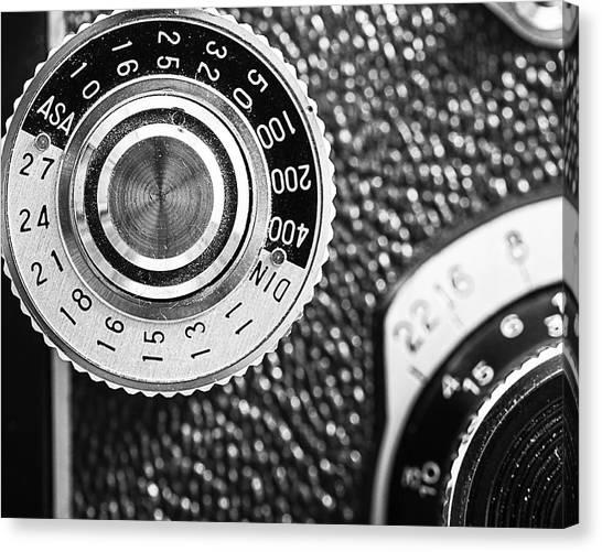 Vintage Camera Canvas Print - Vintage Yashica 635 Camera - Asa Dial by Jon Woodhams