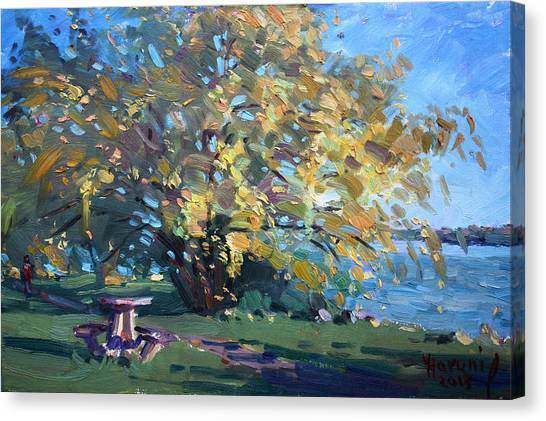 Niagara Falls Canvas Print - Viola Walking In The Park by Ylli Haruni