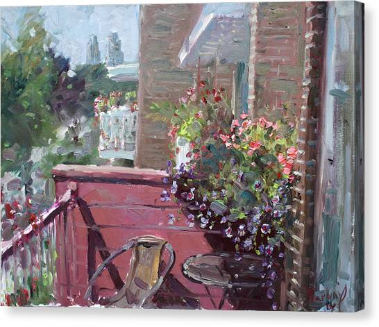 City Landscape Canvas Print - Viola's Balcony by Ylli Haruni