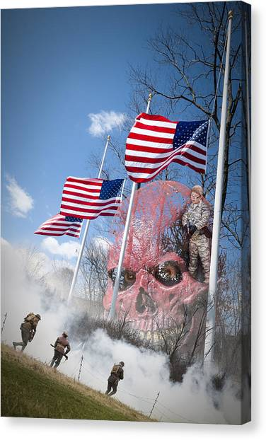 Violence Usa Canvas Print