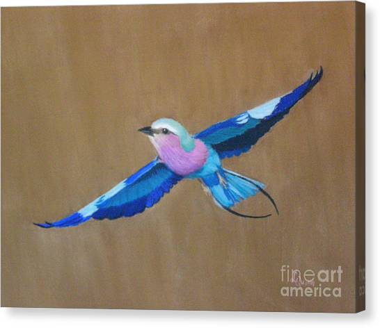 Violet-breasted Roller Bird II Canvas Print
