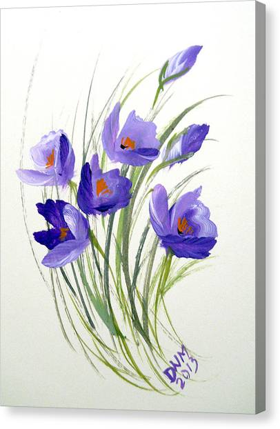 Violet Crocus Canvas Print