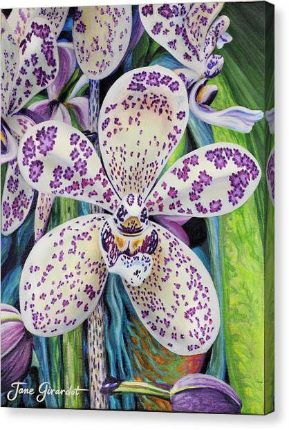Violet Dotted Orchid Canvas Print