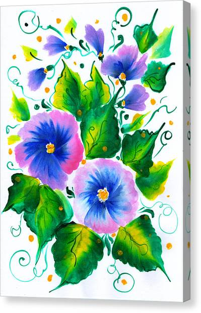 Violet Flowers Canvas Print