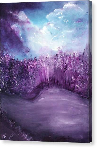 Violet Horizon Canvas Print
