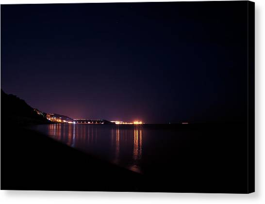 Violet Night Canvas Print by Andrea Mazzocchetti