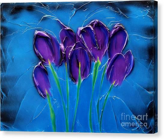 Violet Posy Canvas Print
