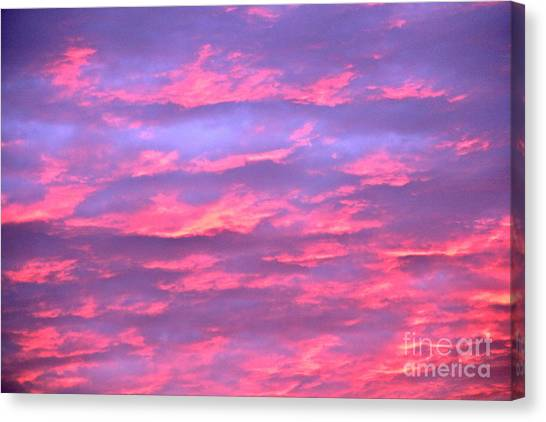 Violet Sunrise Canvas Print by Jay Nodianos