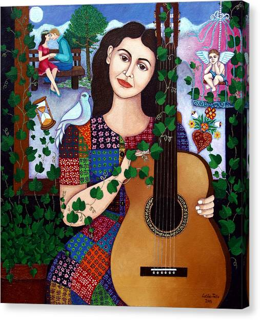 Violeta Canvas Print - Violeta Parra Back At Seventeen   by Madalena Lobao-Tello