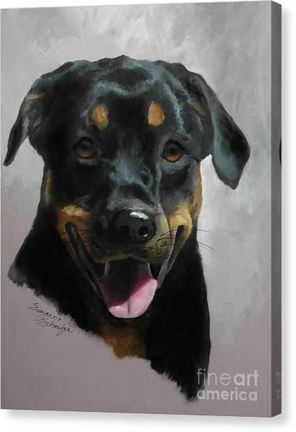 Rottweilers Canvas Print - Violetta by Suzanne Schaefer