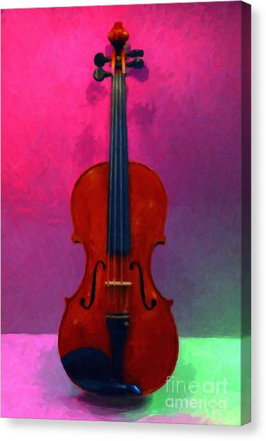 Violin - 20130111 V1 Canvas Print by Wingsdomain Art and Photography