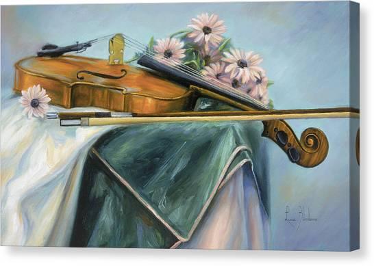 Violin Canvas Print - Violin by Lucie Bilodeau