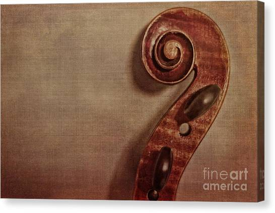 Violins Canvas Print - Violin Scroll by Emily Kay