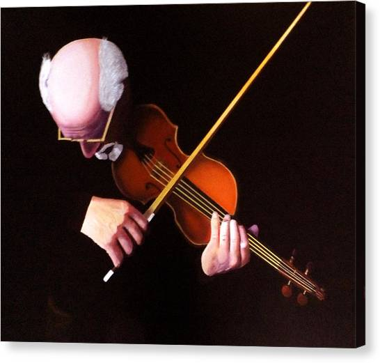 Nsa Canvas Print - Violin Virtuoso-grandfather Inspired by JoeRay Kelley