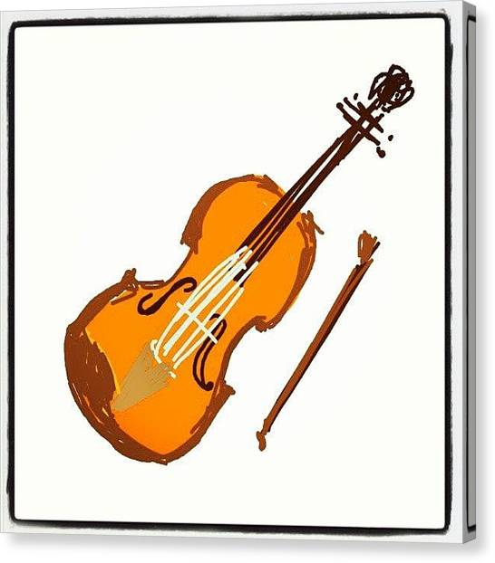 Violins Canvas Print - #violinds #cartoon #violin #sketch by Nuno Marques
