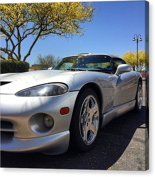 Vipers Canvas Print - #viper #car #nofilter by Shawn Hope