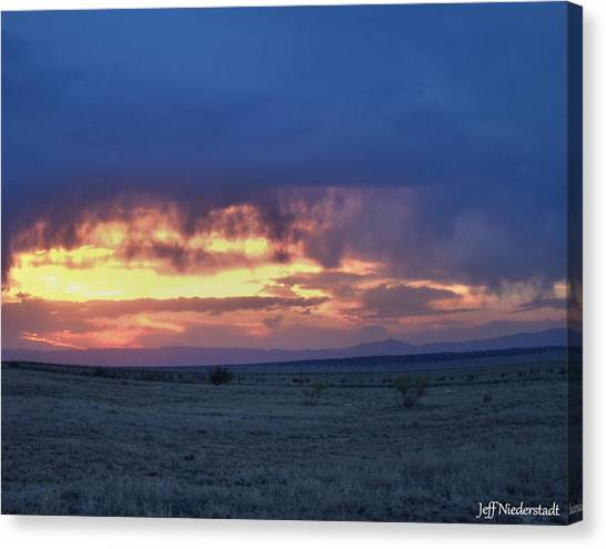 Virga Sunset Canvas Print