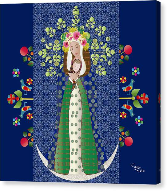 Virgen Chinita Canvas Print