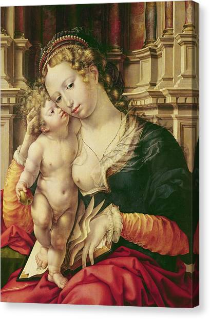 The Prado Canvas Print - Virgin And Child by Jan Gossaert