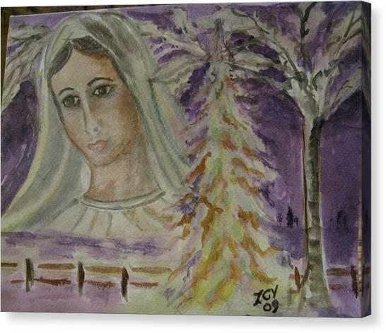 Virgin Mary At Medjugorje Canvas Print