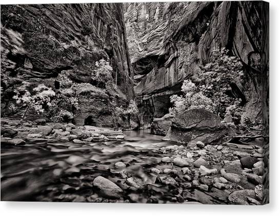 Virgin River Calm Canvas Print by Juan Carlos Diaz Parra