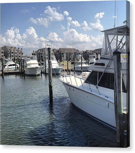 Fishing Boats Canvas Print - Virginia Beach Fishing Center. #fishing by Jacqueline Whitford