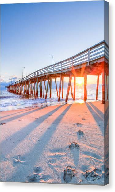 Virginia Beach Fishing Pier Canvas Print