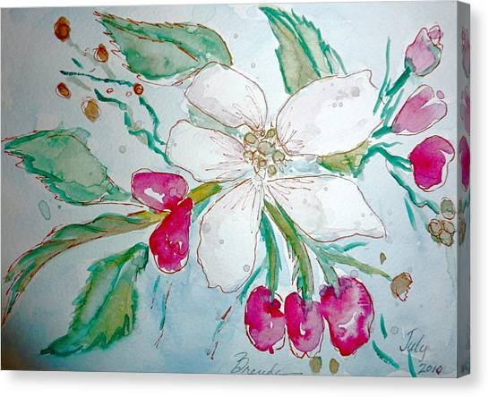 Virginia Dogwood Canvas Print by Brenda Ruark
