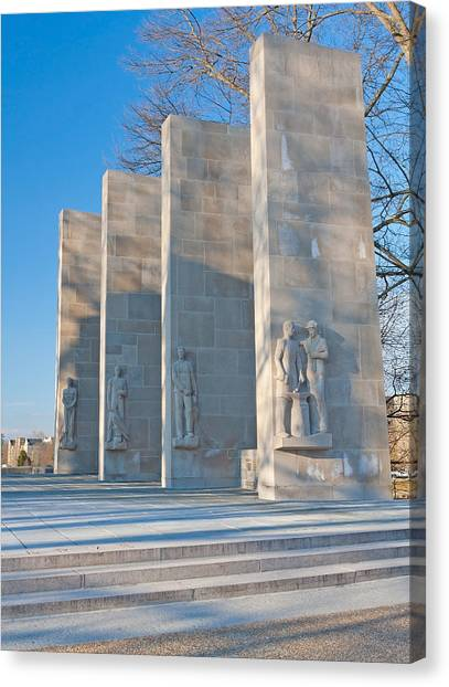 Virginia Polytechnic Institute And State University Virginia Tech Canvas Print - Virginia Tech War Memorial by Melinda Fawver