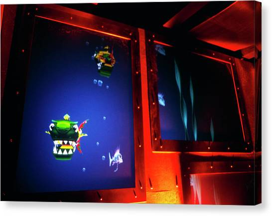 Fish Tanks Canvas Print - Virtual Fish Tank by Sam Ogden/science Photo Library