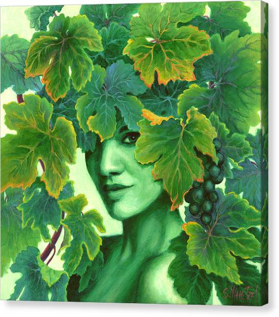 Virtue In The Vines Canvas Print