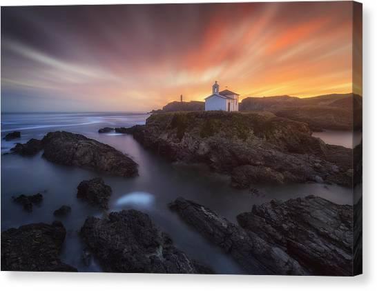 Ocean Sunsets Canvas Print - Virxe Do Porto II by Carlos F. Turienzo