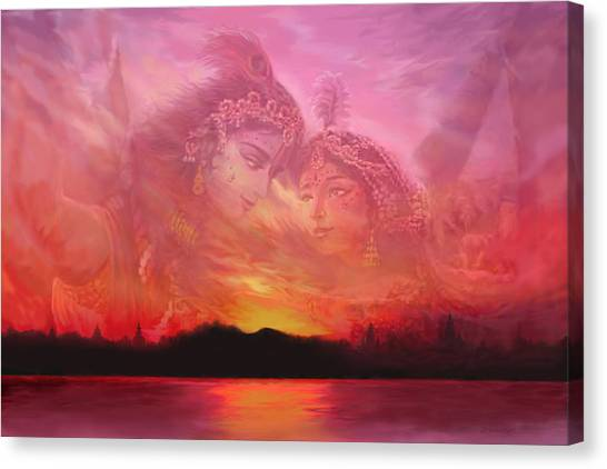 Vision Over The Yamuna Canvas Print