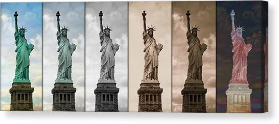 Immigration Canvas Print - Visions Of Liberty by Stephen Stookey