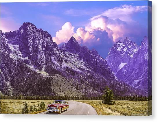 Visit Wyoming Canvas Print